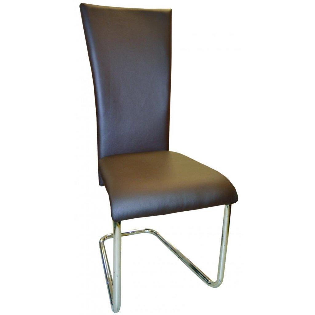 Jedálenská stolička F-245 hnedá