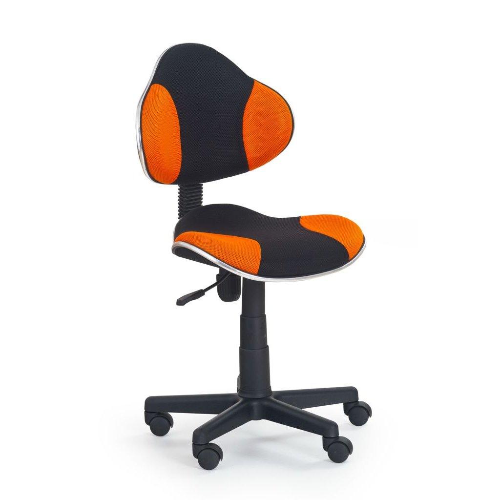 Stolička QZY-G2 čierno-oranžová