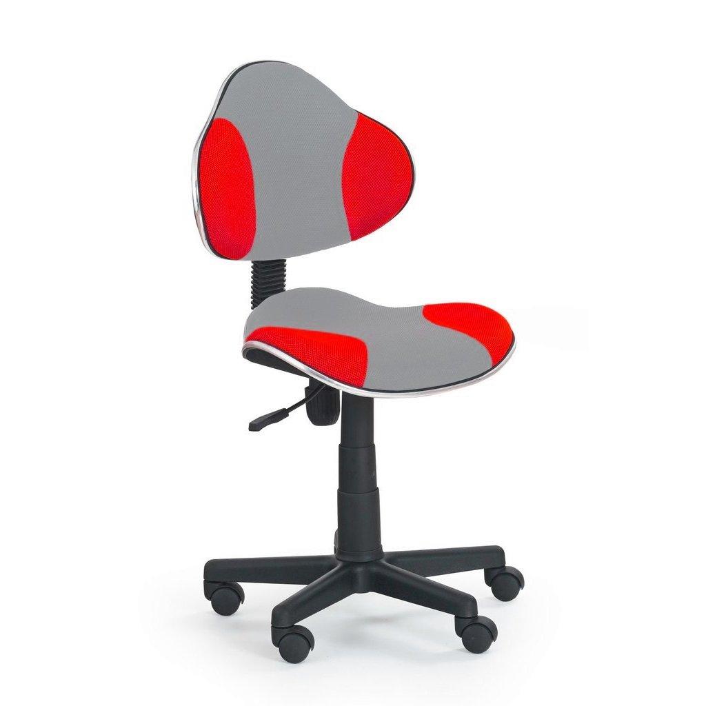 Stolička QZY-G2 šedo červená