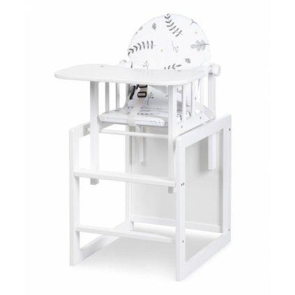 Klups Jedálenský stolček Lily - biela