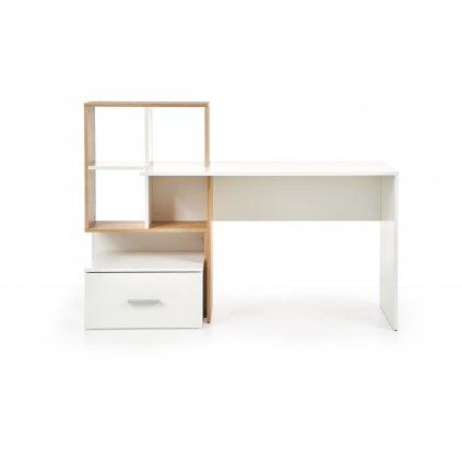 Písací stôl:   GROSSO (HALMAR - drevo laminovaná doska - dub zlatý/ biela)