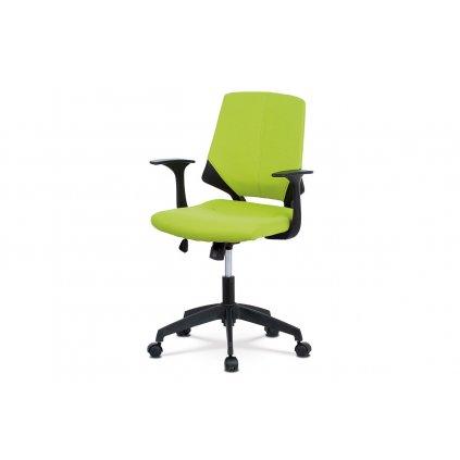Kancelárska stolička, zelená látka, čierny PP, hojdací mechanizmus