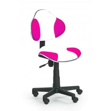 Stolička QZY-G2 bielo ružová