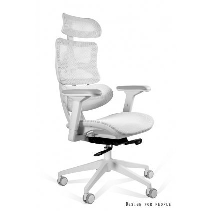 Ergonomické kreslo Ergotech - biela/biely rám