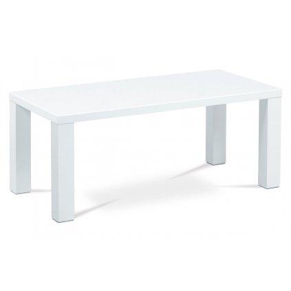 Konferenčný stolík 120x60x50, vysoký lesk biely