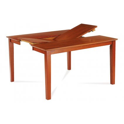 Jedálenský stôl rozkl. 91 + 45x136x75 cm, farba čerešňa