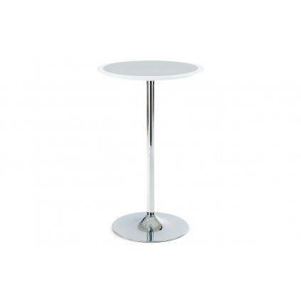 Barový stôl bielo-strieborný plast, priemer. 60 cm