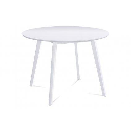 Okrúhly jedálenský stôl pr. 106 cm, biela matná MDF doska, hrúbka 18mm