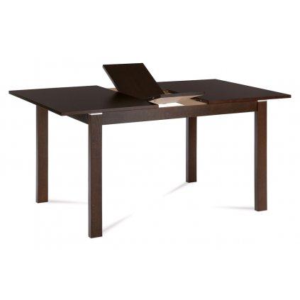 Jedálenský stôl rozkladací 120 + 30x80 cm, farba orech