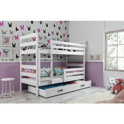 Poschodová posteľ Erik biela/biela (Rozmer postele 160x80)