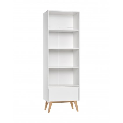 Swing bookcase high white 2