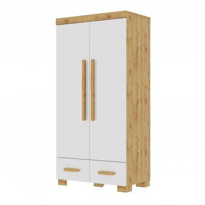 Oakie 2door wardrobe white 1