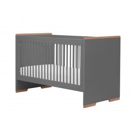 Snap cot bed140x70 dark grey 1
