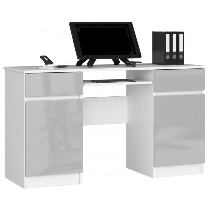 142174 Písací stolík komputerowe a5 135cm biale kovový polysk