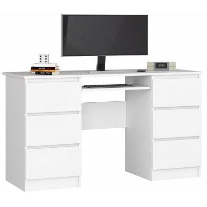 142015 Písací stolík komputerowe a 11 6 zásuviek 135cm biale