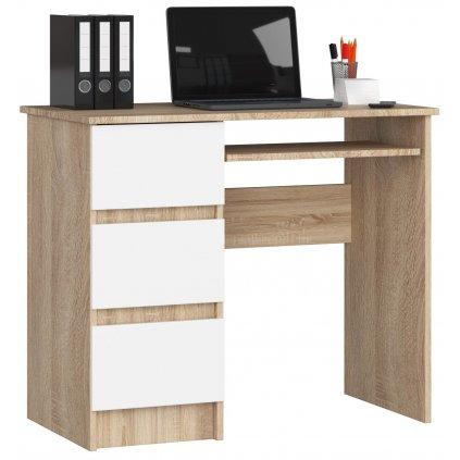142030 Písací stolík komputerowe a 6 sonoma biale ľavá