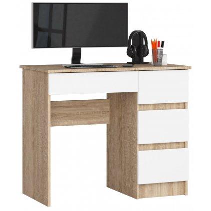 142213 Písací stolík komputerowe a 7 sonoma bialy pravá