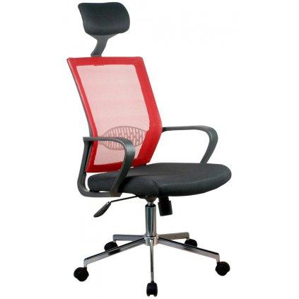 142498 fotel biurowy ocf 9 materialowy červená