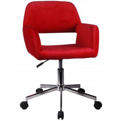 142504 fotel welurowy obrotowy fd 22 červená