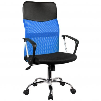 142513 fotel biurowy ocf 7 materialowy Modrá