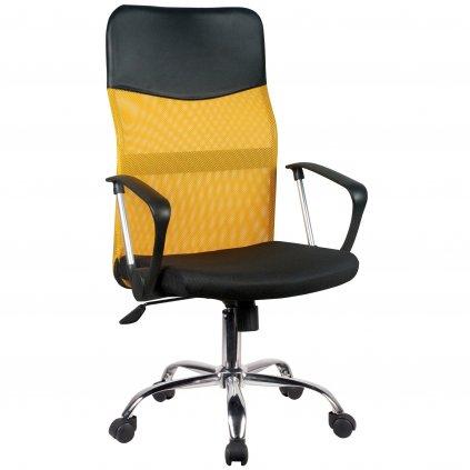 142516 fotel biurowy ocf 7 materialowy pomaranczowy