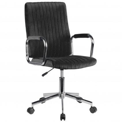142525 krzeslo welurowe obrotowe fd 24 čierne