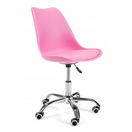 142573 fotel do biurka dzieciecy fd005 rozowy