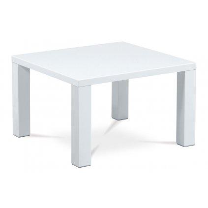 Konferenčný stolík 80x80x50, vysoký lesk biely