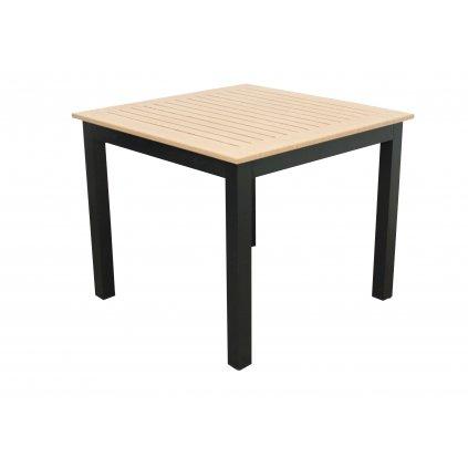 EXPERT WOOD antracit - gastro hliníkový stôl 90x90x75cm