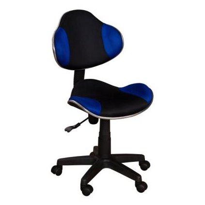Stolička QZY-G2 čierno-modrá