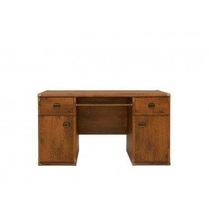 Kancelársky stôl: INDIANA - JBIU 2D2S (Farba dub sutter)