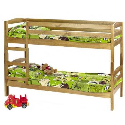Detská poschodová posteľ:   SAM s matracom (jelša)
