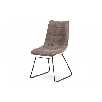 Jedálenská stolička, hľuzovkový látka, kov matná čierna