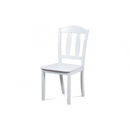 Jedálenská stolička celodrevená, farba biela
