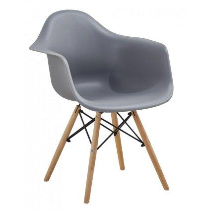 Jedálenská stolička Indiana sivá