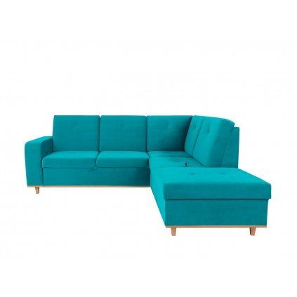 Rohová sedacia súprava: CABRAS 2F.OTMBK (tyrkysová)