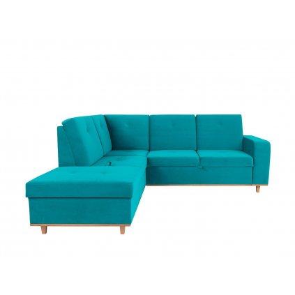 Rohová sedacia súprava: CABRAS OTMBK.2F (tyrkysová)