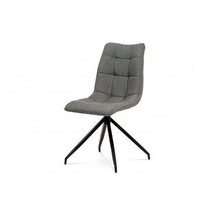 Jedálenská stolička, hnedá látka + ekokoža, kov antracit