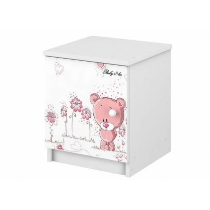 Babyboo Nočný stolík - Macko ružový