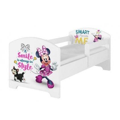 Babyboo Detská posteľ s penovým matracom Disney 140 x 70 cm - Minnie Smart