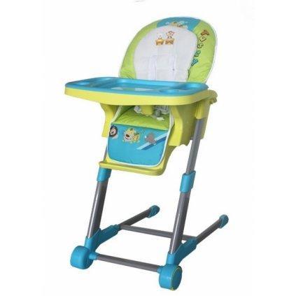 Detská multifunkčná jedálenská stolička Euro Baby - modrá, zelená