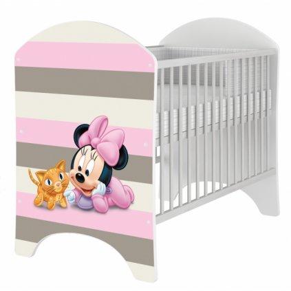 BabyBoo Dětská postieľka Disney Baby Minnie - 120x60cm