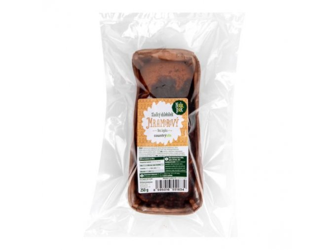 Sladký chlebíček mramorový bez lepku 250 g
