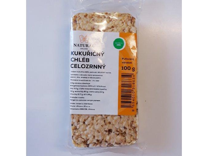 Kukuřičný chléb celozrnný 100 g