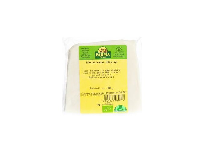 Kozí sýr přírodní Bio 100g