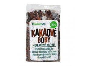 Kakaové boby nepražené drcené 100g Bio Country Life