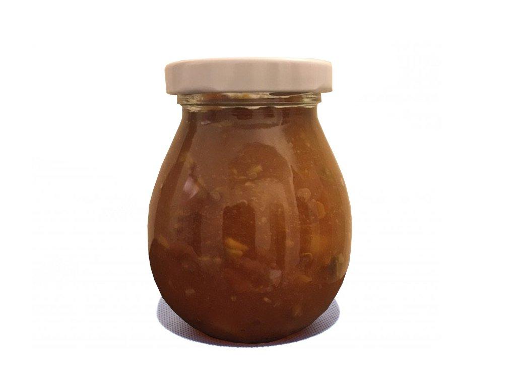 Jablečný extra džem s karamelem a skořicí