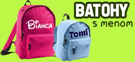 batohy s menom pre škôlkarov aj školákov podľa želania