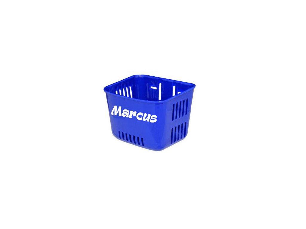 Košík na odrážadlo s menom - modrý