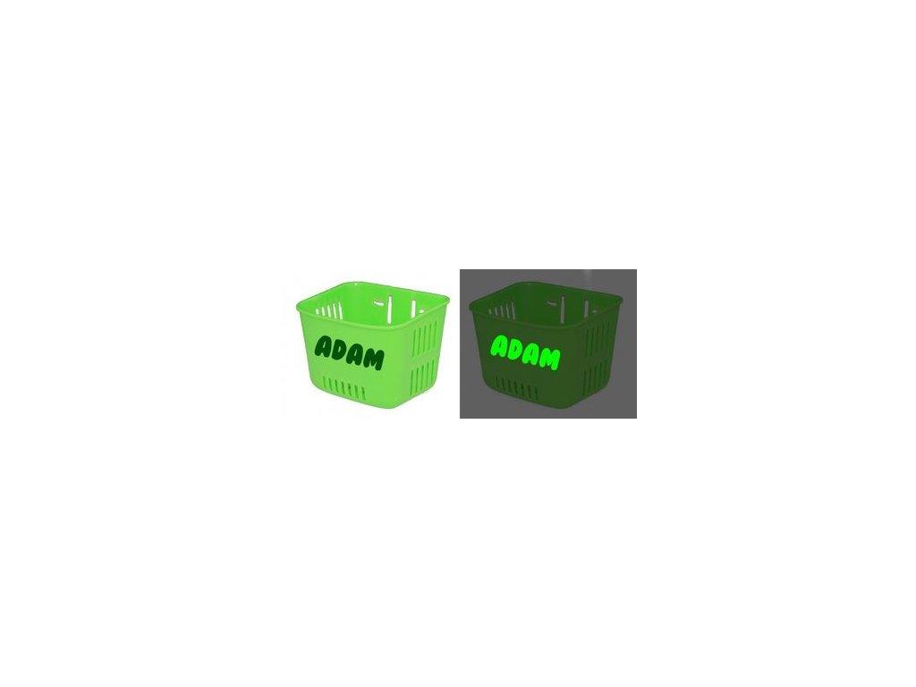 kosik na odrazadlo s reflexnym textom zeleny 89065.thumb 400x450